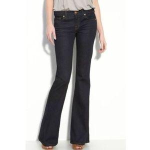 J Brand Babe Bell Bottom Jean in Starless